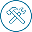 Roofing tools icon